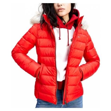 Tommy Jeans dámská červená bunda Tommy Hilfiger