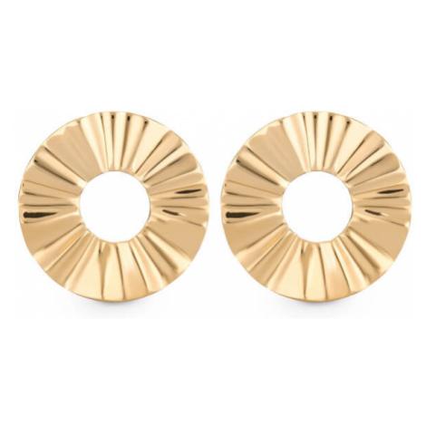 Rosefield náušnice Lois Liquid Waved Coin Earring Gold