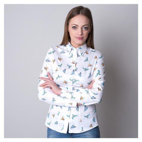 Dámská košile s potiskem barevných kolibříků 11241 Willsoor