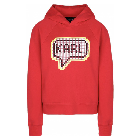 Červená mikina - KARL LAGERFELD   Pixel