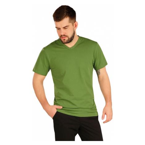 LITEX Triko pánské s krátkým rukávem 5A360619 trávově zelená