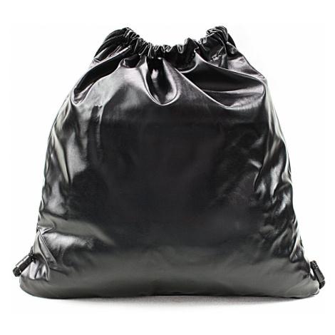 Černý moderní lesklý vak Rowley Mahel