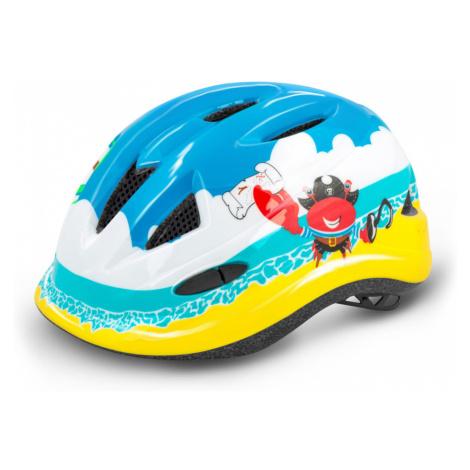 R2 LUCKY Cyklistická helma ATH21C žluto modrá