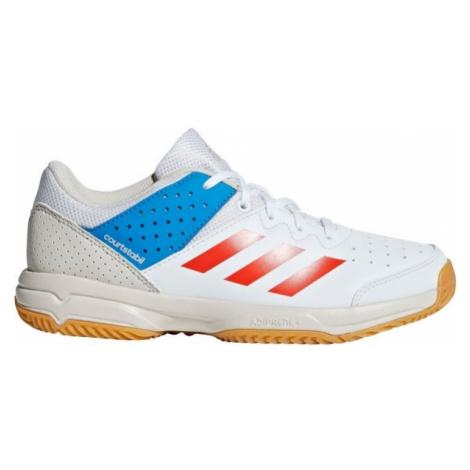 adidas COURT STABIL JR bílá - Dětská házenkářská obuv