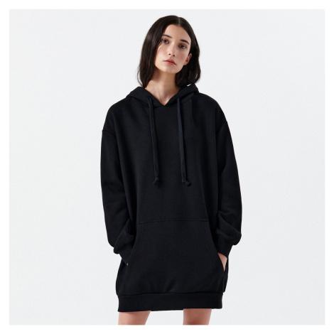 Cropp - Teplákové šaty s kapucí - Černý
