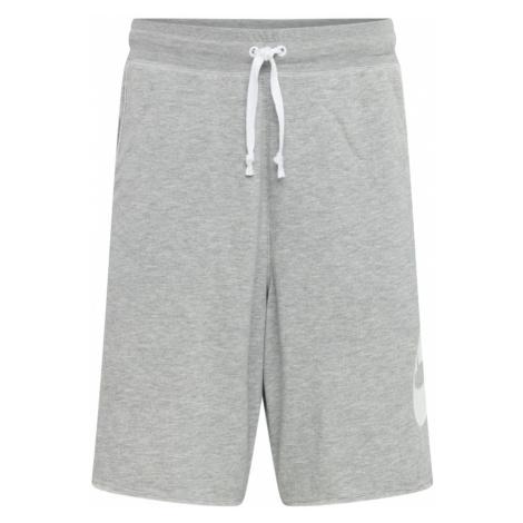 Nike Sportswear Kalhoty šedý melír / bílá