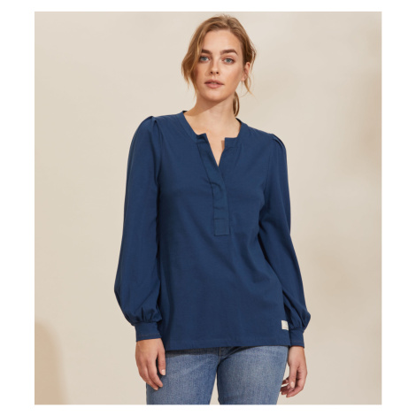Tričko Odd Molly Power Sleeve Top - Modrá