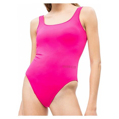 copy of Calvin Klein jednodílné plavky černé - Růžová