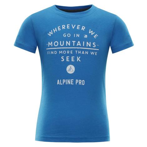 Dětské triko Alpine Pro IVARO - modrá
