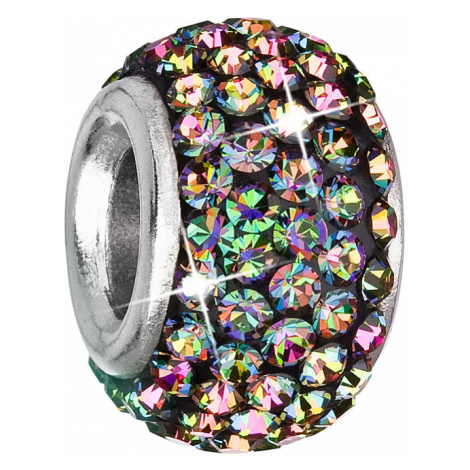Evolution Group Stříbrný přívěsek s krystaly zelený kulatý 734083.5