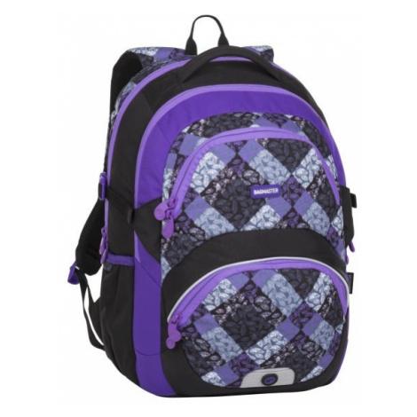 Dívčí školní batoh pro třeťačku BAGMASTER THEORY 8 B BLACK/VIOLET/GRAY