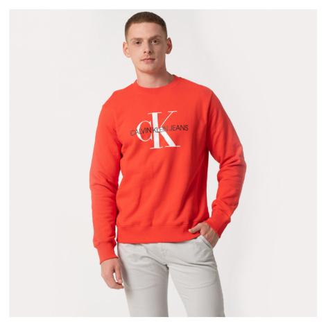 Calvin Klein pánská červená mikina Monogram