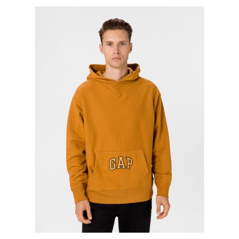 GAP oranžová pánská mikina s kapucí