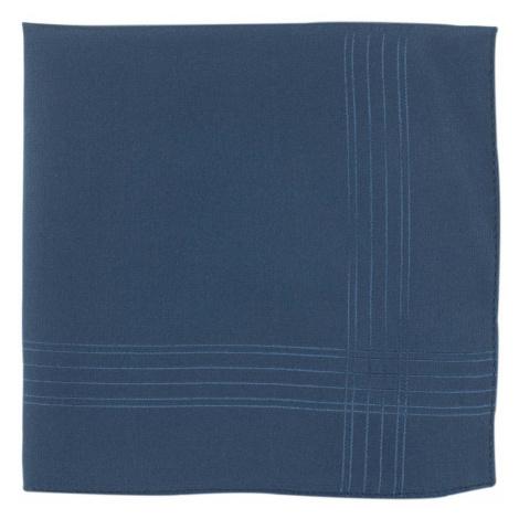 Tmavě modrý hedvábný kapesníček s pruhy John & Paul