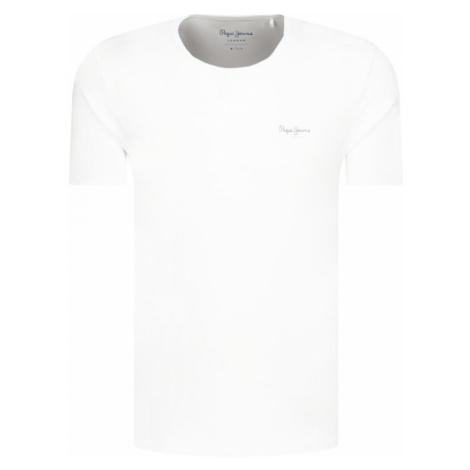 Pepe Jeans pánské bílé tričko ORIGINAL BASIC