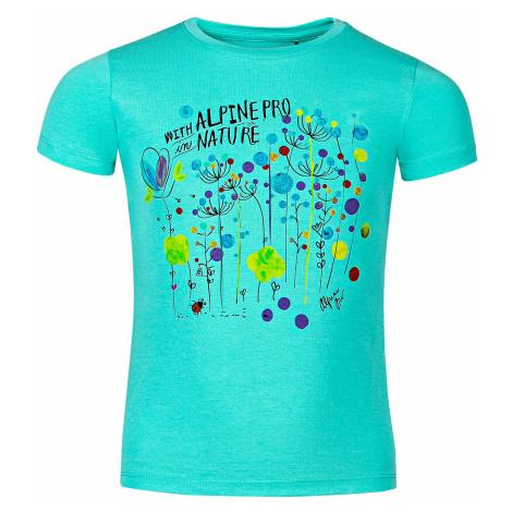 Dětské triko Alpine Pro SPORO - tyrkysová