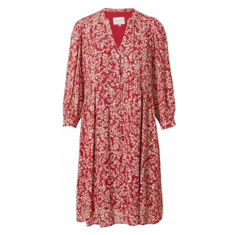 Maison 123 Košilové šaty 'CALYPSO' červená / bílá
