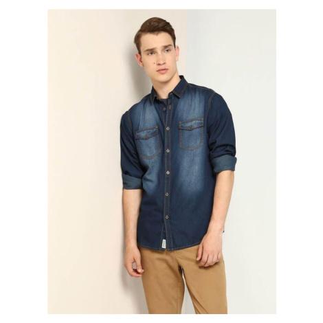 Top Secret Košile pánská jeans dlouhý rukáv poslední kus