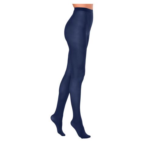 Blancheporte Neprůhledné punčochové kalhoty, sada 2 párů námořnická modrá