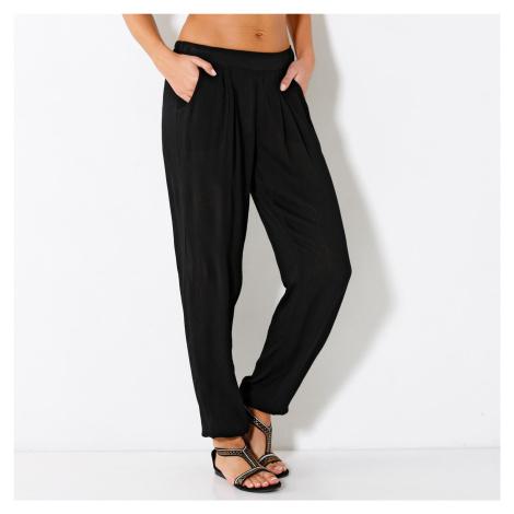 Blancheporte Kreponové kalhoty černá