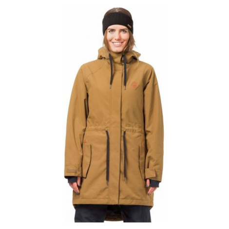 Horsefeathers POPPY JACKET hnědá - Dámská lyžařská/snowboardová bunda