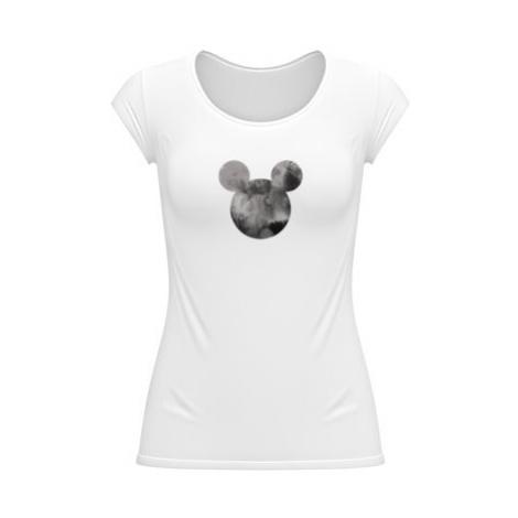 Dámské tričko velký výstřih Mickey Mouse