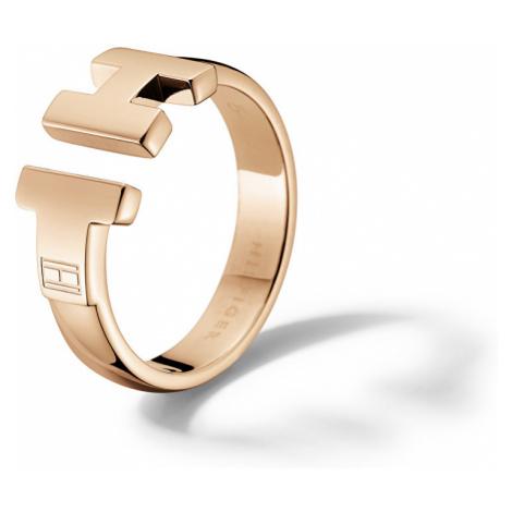 Tommy Hilfiger Luxusní bronzový prsten z oceli TH2700862