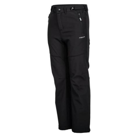 Head ZAVID černá - Dětské softshellové kalhoty