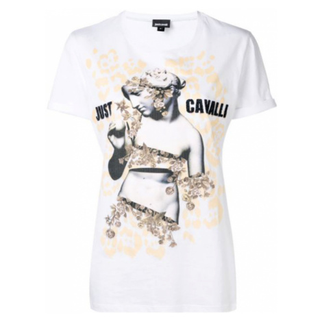 JUST CAVALLI Logo Gold tričko