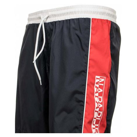 Napapijri pánské koupací šortky modré s červeným pruhem