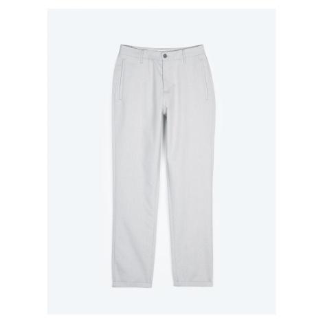 GATE Kalhoty straight fit z bavlněné směsi