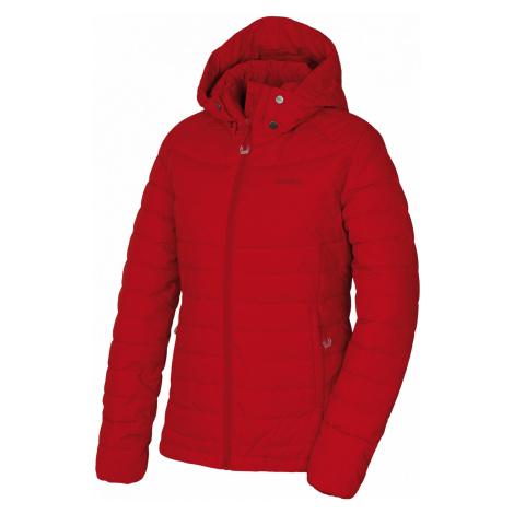 Husky Donnie L, červená Dámská péřová bunda