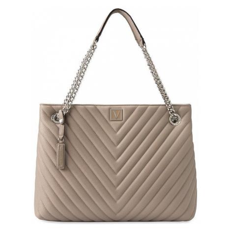 Victorias Secret luxusní šedá kabelka Pebbled V-Quilt Shoulder Bag Victoria's Secret