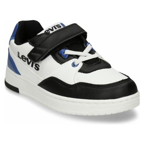 Bílé dětské tenisky s černými a modrými detaily Levi´s