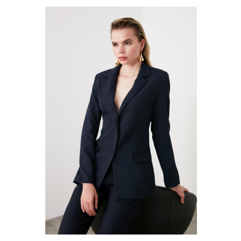 Trendyol Navy Button Jacket