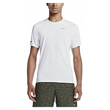 Běžecké tričko Nike DRI-FIT CONTOUR SS Bílá