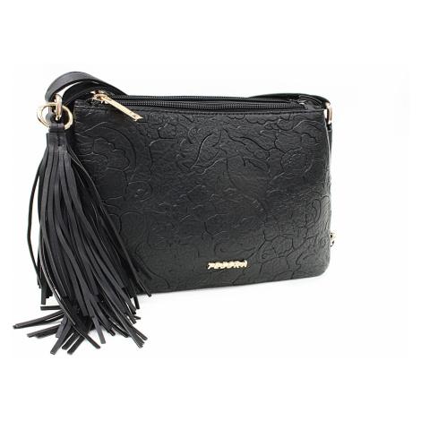 Černá netradiční crossbody dámská kabelka Pansy Mahel