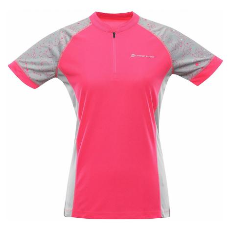 Dámské cyklistické triko-dres Alpine Pro SORANA - růžová