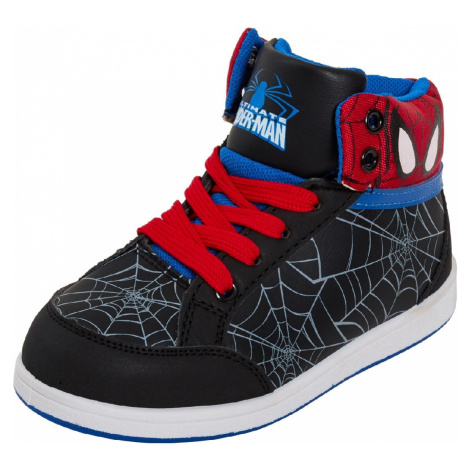 CHLAPECKÉ ČERNÉ KOTNÍKOVÉ TENISKY SPIDERMAN Spider-Man