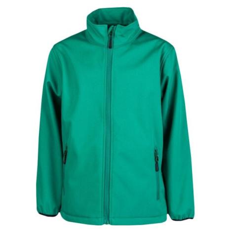 Kensis RORI JR zelená - Chlapecká softshellová bunda