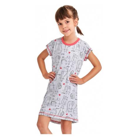 Dívčí noční košile Pepa cat šedá Taro