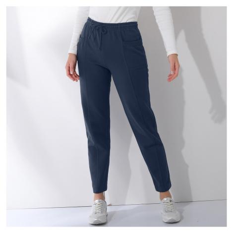 Blancheporte Meltonové sportovní kalhoty nám.modrá