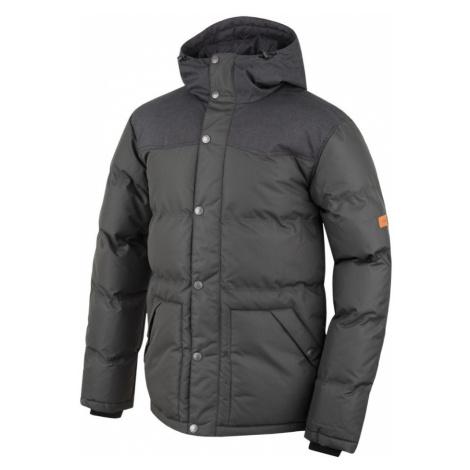 HANNAH Slasher Pánská zimní bunda 216HH0035HJ03 Black mel/peat