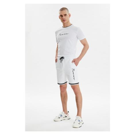 Trendyol White Men's Regular Fit Tracksuit Set