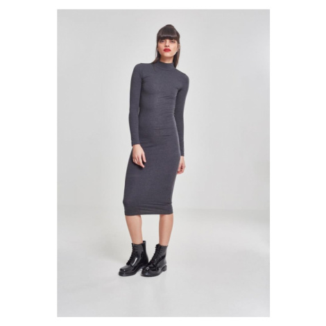Ladies Turtleneck L/S Dress - charcoal Urban Classics