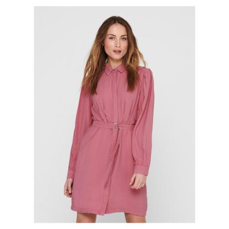 Only růžové košilové šaty