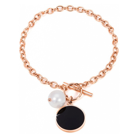 JwL Luxury Pearls Ocelový náramek s pravou perlou JL0481CH
