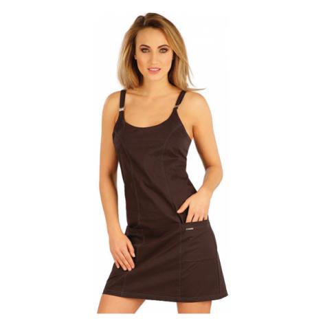 Dámské šaty sportovní Litex 5A299 | čokoládová