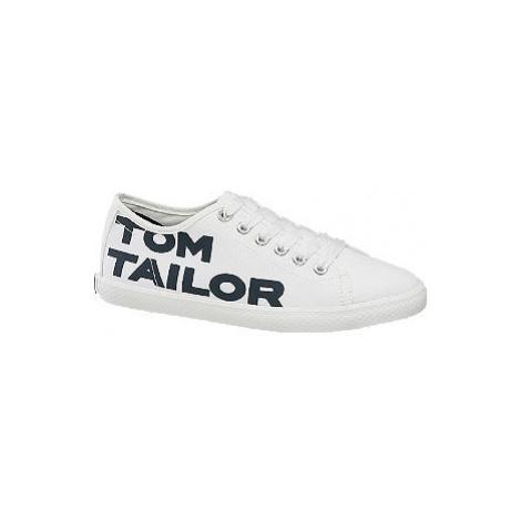 Bílé plátěné tenisky Tom Tailor
