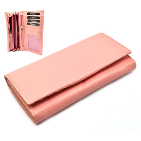 Růžová luxusní dámská kožená peněženka Cavaldi